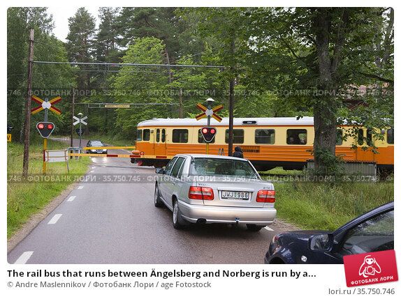 The rail bus that runs between Ängelsberg and Norberg is run by a... Стоковое фото, фотограф Andre Maslennikov / age Fotostock / Фотобанк Лори