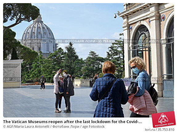 The Vatican Museums reopen after the last lockdown for the Covid-... Редакционное фото, фотограф AGF/Maria Laura Antonelli / age Fotostock / Фотобанк Лори