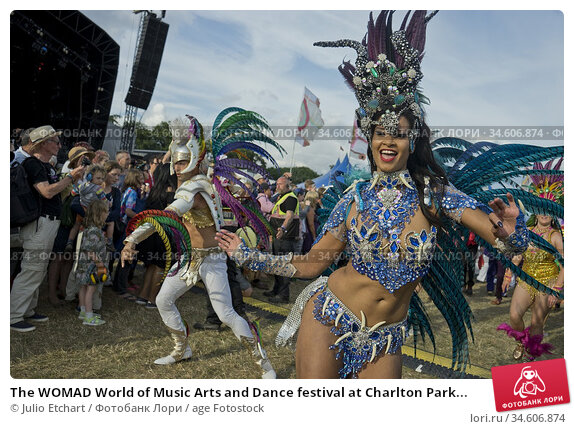 The WOMAD World of Music Arts and Dance festival at Charlton Park... (2016 год). Редакционное фото, фотограф Julio Etchart / age Fotostock / Фотобанк Лори