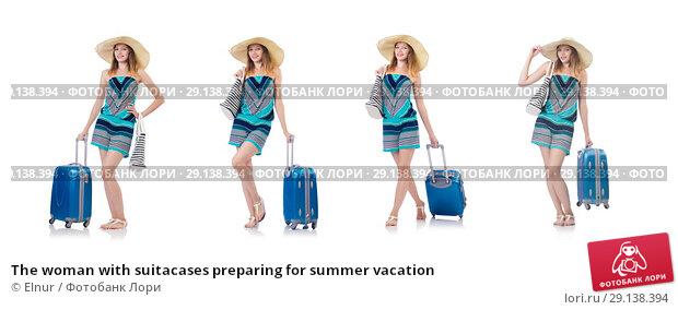 Купить «The woman with suitacases preparing for summer vacation», фото № 29138394, снято 27 августа 2013 г. (c) Elnur / Фотобанк Лори