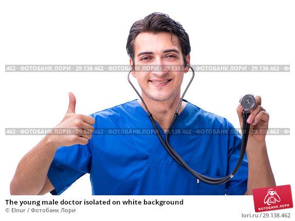 Купить «The young male doctor isolated on white background», фото № 29138462, снято 6 июля 2018 г. (c) Elnur / Фотобанк Лори
