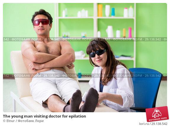 Купить «The young man visiting doctor for epilation», фото № 29138542, снято 6 июня 2018 г. (c) Elnur / Фотобанк Лори