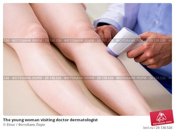 Купить «The young woman visiting doctor dermatologist», фото № 29138526, снято 6 июня 2018 г. (c) Elnur / Фотобанк Лори