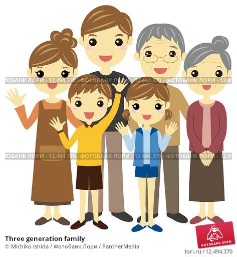 Купить «Three generation family», иллюстрация № 12494370 (c) PantherMedia / Фотобанк Лори