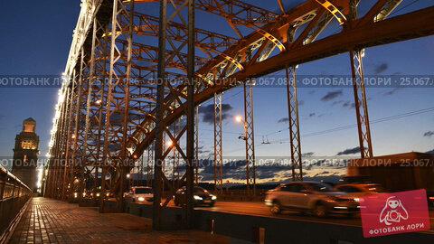Time Lapse Photography Bolsheokhtinsky Bridge In St Petersburg (2016 год). Стоковое видео, видеограф Владимир Ковальчук / Фотобанк Лори
