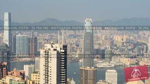 Timelapse video of Hong Kong Victoria Harbour (2019 год). Редакционное видео, видеограф Игорь Жоров / Фотобанк Лори