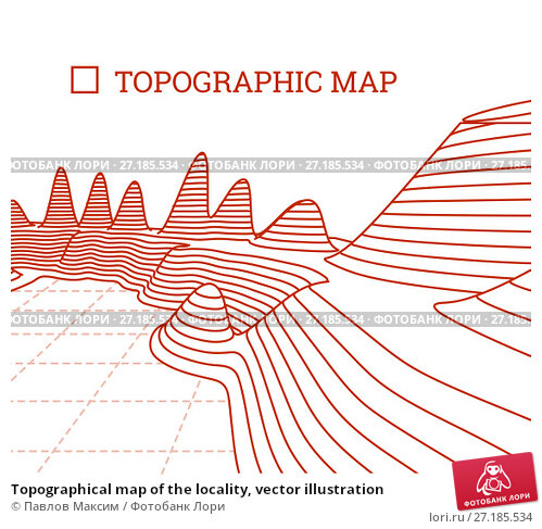 Купить «Topographical map of the locality, vector illustration», иллюстрация № 27185534 (c) Павлов Максим / Фотобанк Лори
