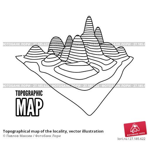 Купить «Topographical map of the locality, vector illustration», иллюстрация № 27185622 (c) Павлов Максим / Фотобанк Лори