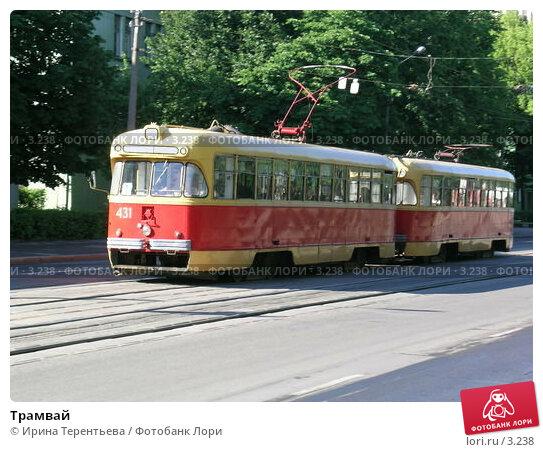 Трамвай, эксклюзивное фото № 3238, снято 3 июля 2004 г. (c) Ирина Терентьева / Фотобанк Лори