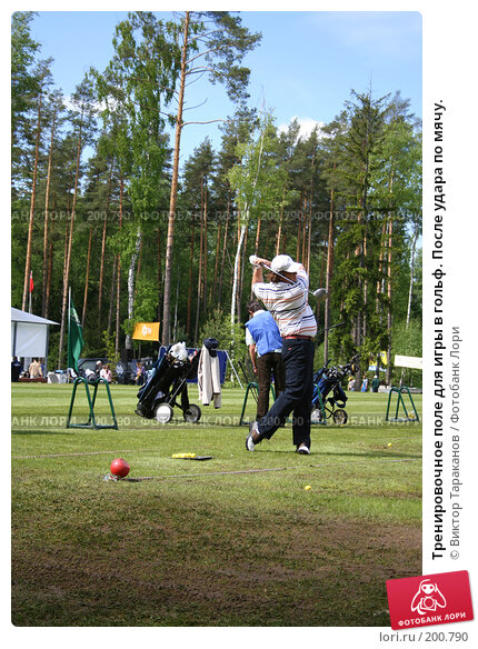 Купить «Тренировочное поле для игры в гольф. После удара по мячу.», эксклюзивное фото № 200790, снято 31 мая 2006 г. (c) Виктор Тараканов / Фотобанк Лори