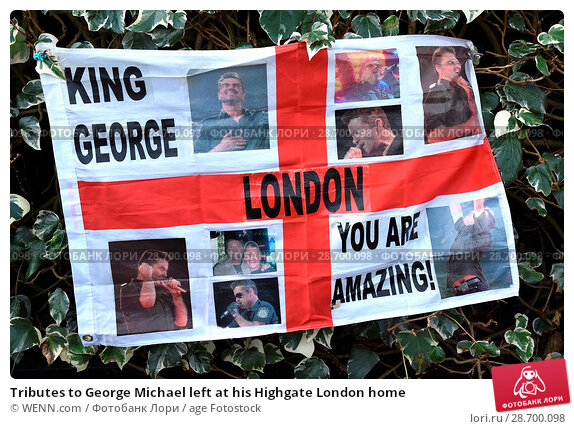 Купить «Tributes to George Michael left at his Highgate London home Featuring: Atmosphere, George Michael Where: London, United Kingdom When: 27 Dec 2016 Credit: WENN.com», фото № 28700098, снято 27 декабря 2016 г. (c) age Fotostock / Фотобанк Лори