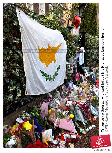 Купить «Tributes to George Michael left at his Highgate London home Featuring: Atmosphere, George Michael Where: London, United Kingdom When: 27 Dec 2016 Credit: WENN.com», фото № 28700190, снято 27 декабря 2016 г. (c) age Fotostock / Фотобанк Лори