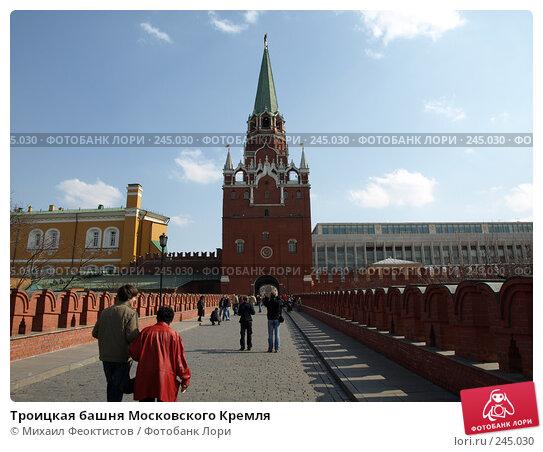 Троицкая башня Московского Кремля, фото № 245030, снято 6 апреля 2008 г. (c) Михаил Феоктистов / Фотобанк Лори