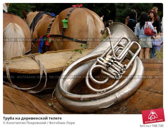 Труба на деревенской телеге, фото № 108730, снято 8 июля 2007 г. (c) Константин Покровский / Фотобанк Лори