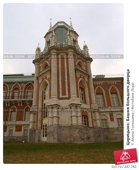 Царицыно. Башня большого дворца, эксклюзивное фото № 247742, снято 5 апреля 2008 г. (c) Алина Голышева / Фотобанк Лори