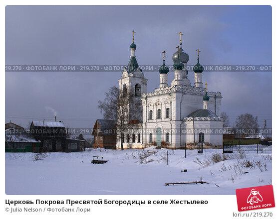 Церковь Покрова Пресвятой Богородицы в селе Жестылево, фото № 219270, снято 15 февраля 2008 г. (c) Julia Nelson / Фотобанк Лори