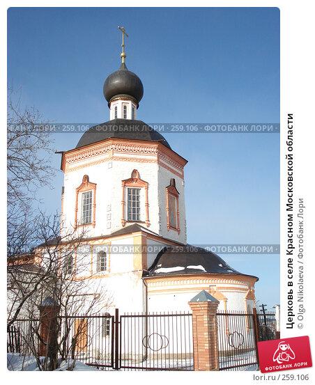 Церковь в селе Красном Московской области, фото № 259106, снято 16 февраля 2008 г. (c) Olga Nikolaeva / Фотобанк Лори