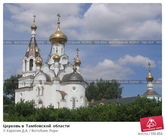 Церковь в  Тамбовской  области, фото № 100854, снято 3 июля 2006 г. (c) Карелин Д.А. / Фотобанк Лори