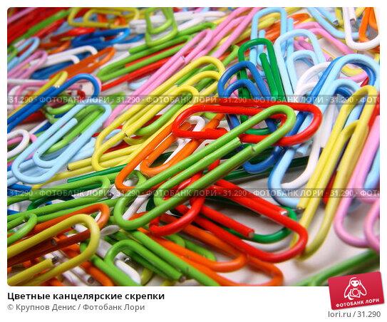 Купить «Цветные канцелярские скрепки», фото № 31290, снято 15 декабря 2006 г. (c) Крупнов Денис / Фотобанк Лори