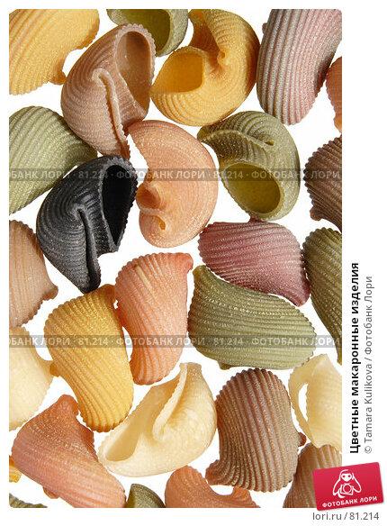 Цветные макаронные изделия, фото № 81214, снято 9 сентября 2007 г. (c) Tamara Kulikova / Фотобанк Лори