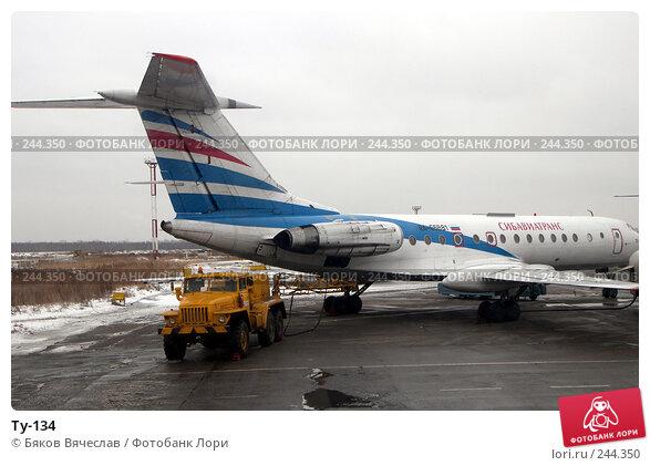 Купить «Ту-134», фото № 244350, снято 2 марта 2008 г. (c) Бяков Вячеслав / Фотобанк Лори
