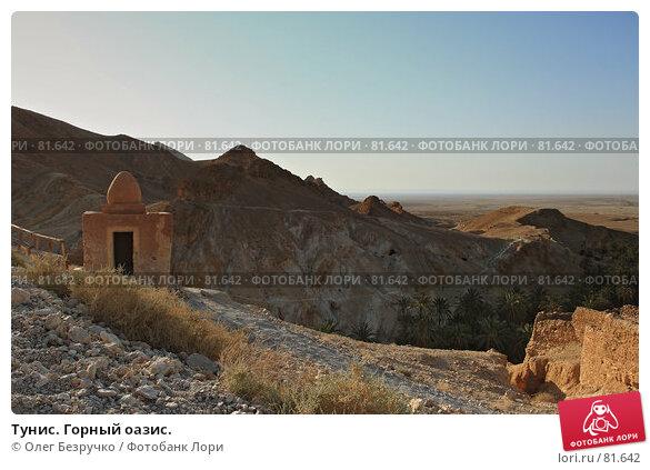 Купить «Тунис. Горный оазис.», фото № 81642, снято 31 июля 2007 г. (c) Олег Безручко / Фотобанк Лори