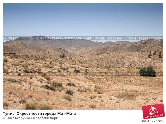 Тунис. Окрестности города Мат-Мата, фото № 78958, снято 30 июля 2007 г. (c) Олег Безручко / Фотобанк Лори