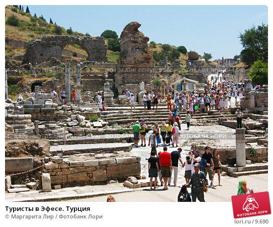 Туристы в Эфесе. Турция, фото № 9690, снято 9 июля 2006 г. (c) Маргарита Лир / Фотобанк Лори
