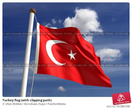 Купить «Turkey flag (with clipping path)», фото № 33085938, снято 20 февраля 2020 г. (c) PantherMedia / Фотобанк Лори