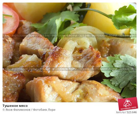 Тушеное мясо, фото № 323646, снято 18 мая 2008 г. (c) Яков Филимонов / Фотобанк Лори