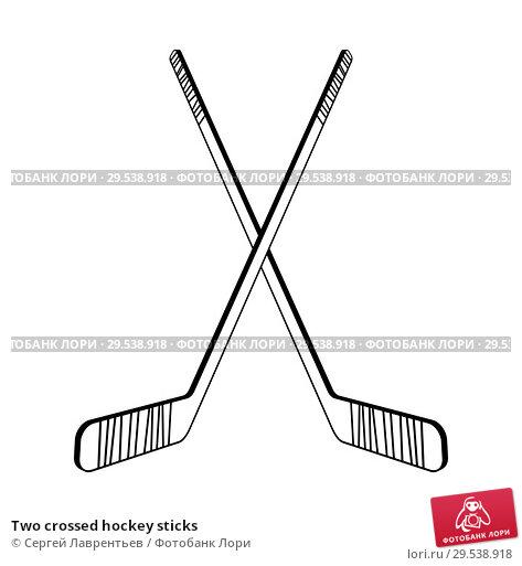 Купить «Two crossed hockey sticks», иллюстрация № 29538918 (c) Сергей Лаврентьев / Фотобанк Лори