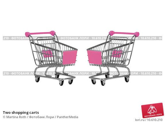Two shopping carts. Стоковое фото, фотограф Martina Roth / PantherMedia / Фотобанк Лори