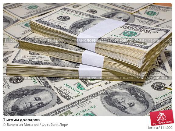 Тысячи долларов, фото № 111090, снято 5 декабря 2006 г. (c) Валентин Мосичев / Фотобанк Лори