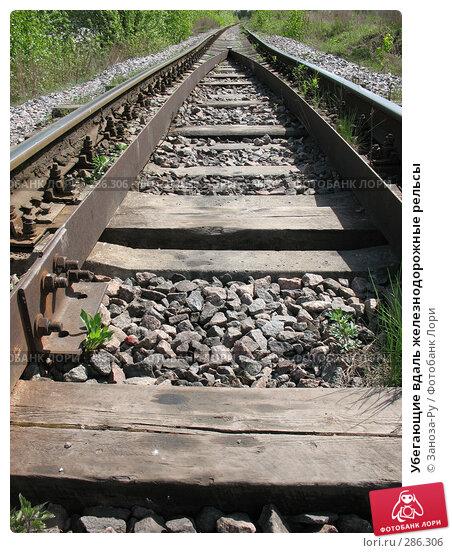 Убегающие вдаль железнодорожные рельсы, фото № 286306, снято 13 мая 2008 г. (c) Заноза-Ру / Фотобанк Лори