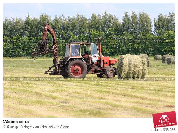 Купить «Уборка сена», эксклюзивное фото № 333986, снято 12 июня 2008 г. (c) Дмитрий Неумоин / Фотобанк Лори