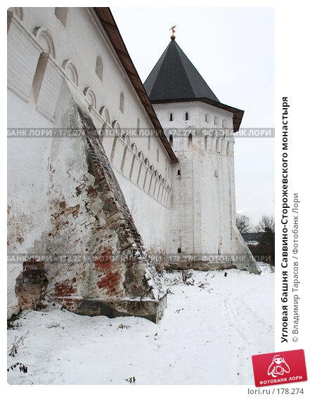 Угловая башня Саввино-Сторожевского монастыря, фото № 178274, снято 21 ноября 2007 г. (c) Владимир Тарасов / Фотобанк Лори