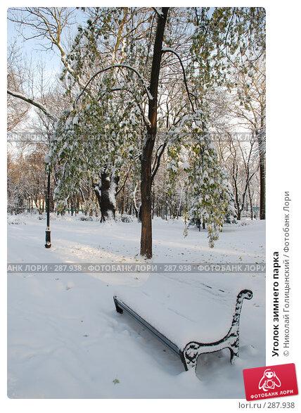 Уголок зимнего парка, фото № 287938, снято 12 ноября 2007 г. (c) Николай Голицынский / Фотобанк Лори