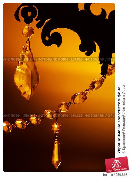 Украшение на золотистом фоне, фото № 259866, снято 25 октября 2016 г. (c) Кравецкий Геннадий / Фотобанк Лори