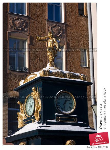 Уличные часы, фото № 188250, снято 9 февраля 2007 г. (c) Argument / Фотобанк Лори