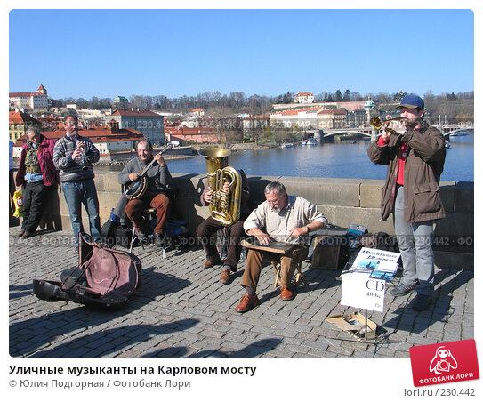 Уличные музыканты на Карловом мосту, фото № 230442, снято 15 марта 2008 г. (c) Юлия Селезнева / Фотобанк Лори
