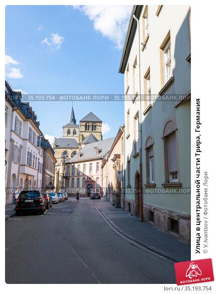 Улица в центральной части Трира, Германия (2018 год). Редакционное фото, фотограф V.Ivantsov / Фотобанк Лори