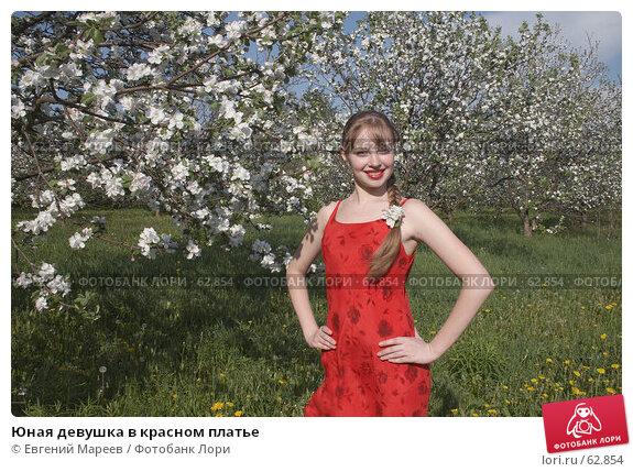 Юная девушка в красном платье, фото № 62854, снято 22 мая 2007 г. (c) Евгений Мареев / Фотобанк Лори