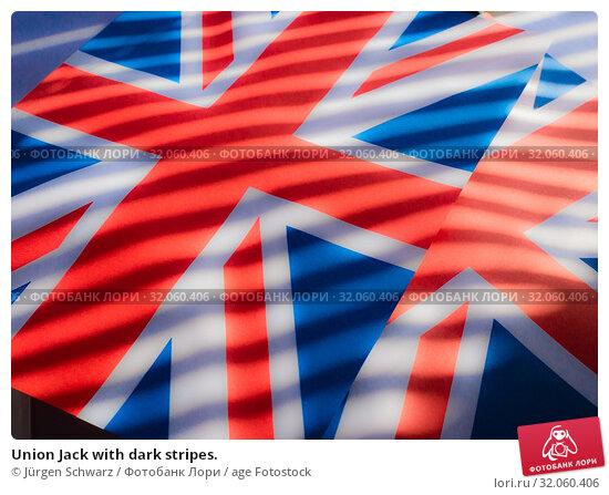 Union Jack with dark stripes. Стоковое фото, фотограф Jürgen Schwarz / age Fotostock / Фотобанк Лори