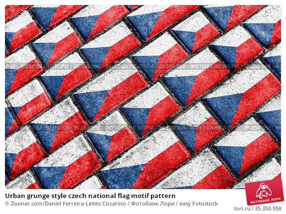 Urban grunge style czech national flag motif pattern. Стоковое фото, фотограф Zoonar.com/Daniel Ferreira-Leites Ciccarino / easy Fotostock / Фотобанк Лори