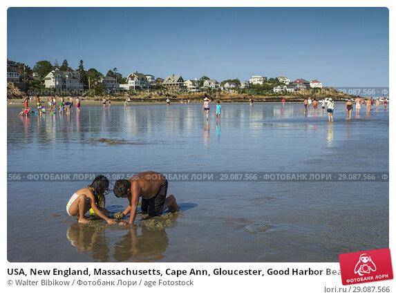Купить «USA, New England, Massachusetts, Cape Ann, Gloucester, Good Harbor Beach, summer.», фото № 29087566, снято 20 августа 2017 г. (c) age Fotostock / Фотобанк Лори