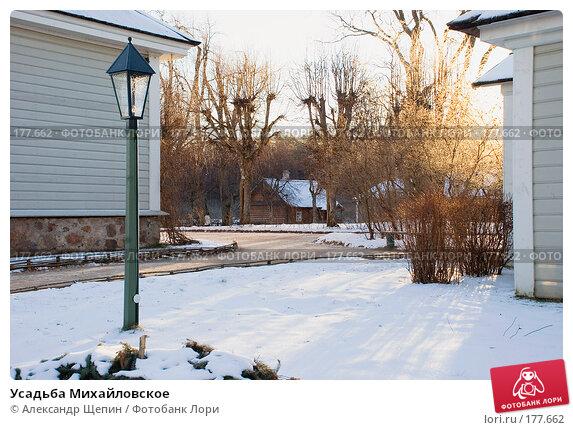 Усадьба Михайловское, эксклюзивное фото № 177662, снято 5 января 2008 г. (c) Александр Щепин / Фотобанк Лори