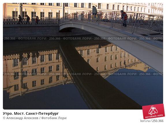Утро. Мост. Санкт-Петербург, эксклюзивное фото № 250366, снято 5 ноября 2007 г. (c) Александр Алексеев / Фотобанк Лори
