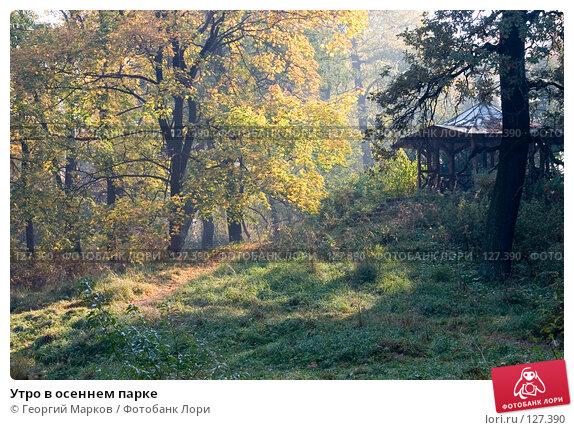 Утро в осеннем парке, фото № 127390, снято 12 октября 2005 г. (c) Георгий Марков / Фотобанк Лори