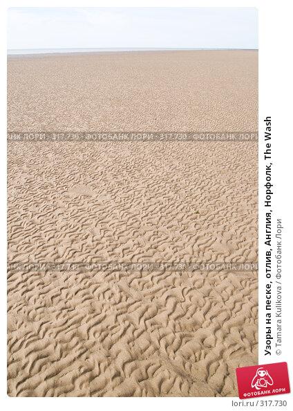 Узоры на песке, отлив, Англия, Норфолк, The Wash, фото № 317730, снято 8 июня 2008 г. (c) Tamara Kulikova / Фотобанк Лори