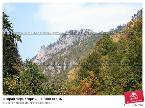 Купить «В горах Черногории. Ранняя осень», фото № 84746, снято 29 августа 2007 г. (c) Сергей Лебедев / Фотобанк Лори